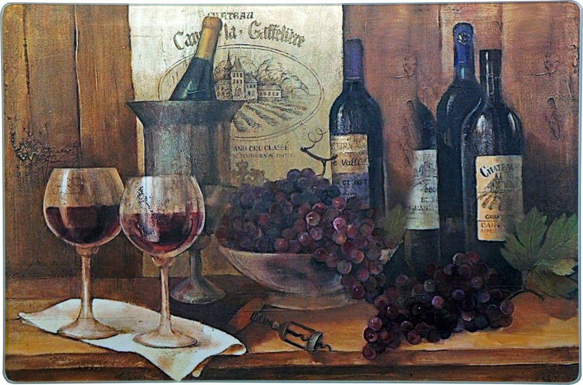 Доска разделочная Gift'n'Home Винтажные вина, стеклянная, 20 х 30 см доска разделочная доляна для любимых цвет желтый 30 х 20 см
