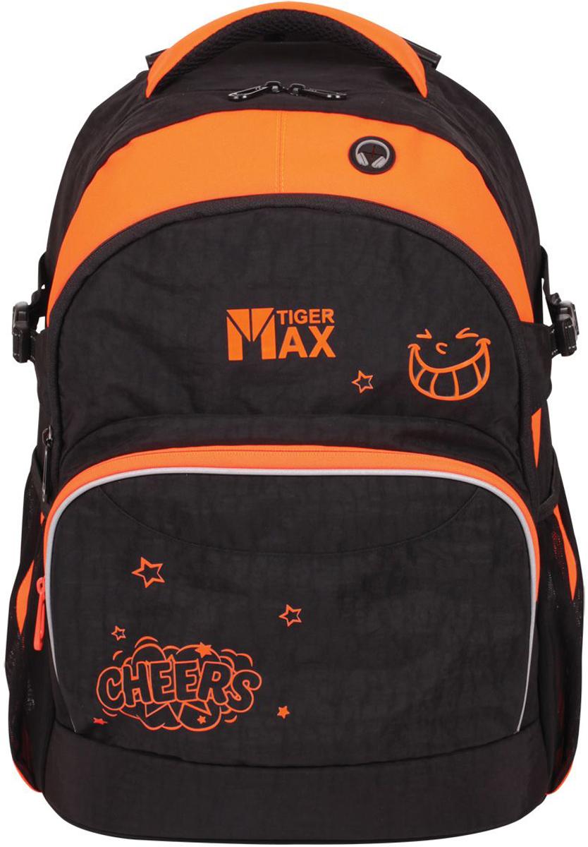 Tiger Enterprise Рюкзак Дискавери цвет черный оранжевый рюкзаки tiger family рюкзак champ twinkle stars