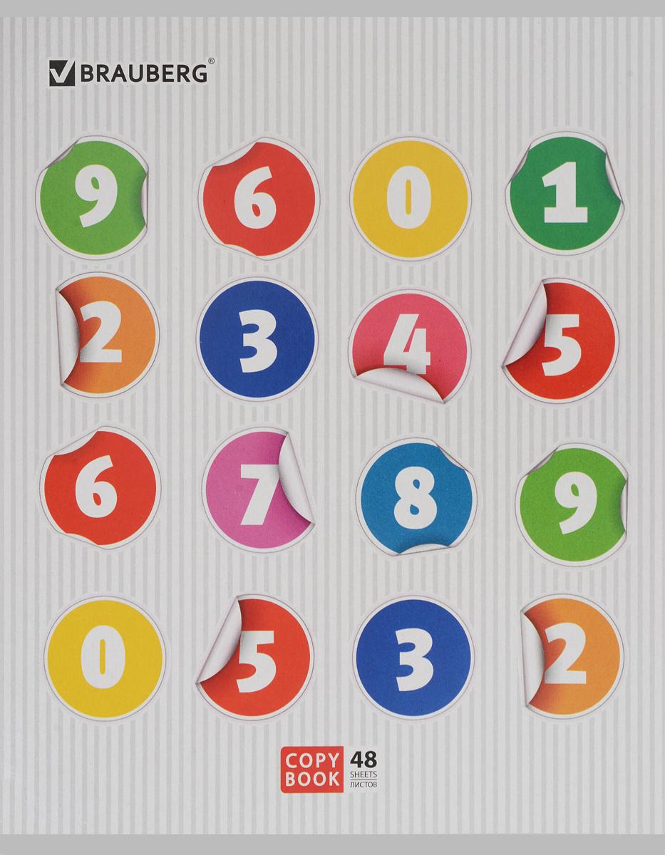 Brauberg Тетрадь Числа 48 листов в клетку цвет серый401811_серыйТетрадь Brauberg Числа подойдет как школьнику, так и студенту. Обложка тетради выполнена из плотного картона, что позволит сохранить ее в аккуратном состоянии на протяжении всего времени использования.Внутренний блок тетради, соединенный двумя металлическими скрепками, состоит из 48 листов белой бумаги. Стандартная линовка в клетку голубого цвета дополнена полями.