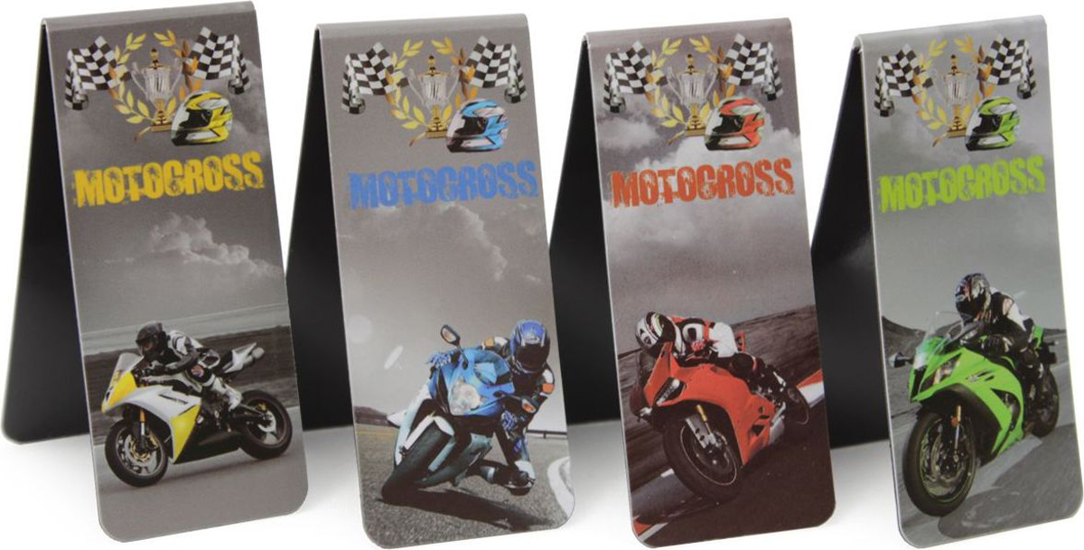 Феникс+ Набор магнитных закладок Мотоциклы 4 шт
