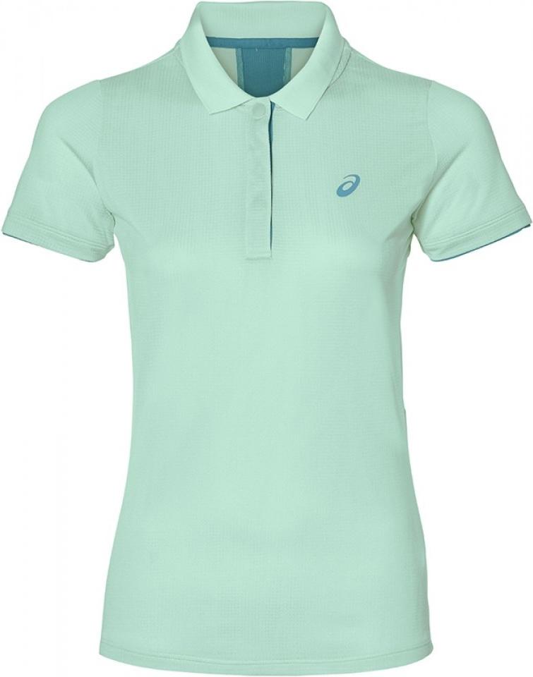 Поло женское Asics Club Classic Polo, цвет: мятный. 146480-0490. Размер L (48/50)146480-0490Теннисная футболка-поло от Asics по-прежнему пользуется популярностью у миллионов игроков теннисных клубов. Ведите свою игру и ощутите максимум комфорта в каждом сете.