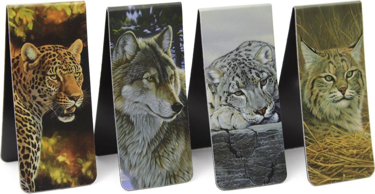 Феникс+ Набор магнитных закладок Животные 4 шт