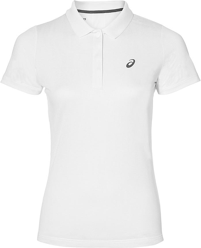 Поло женское Asics Club Classic Polo, цвет: белый. 146480-0001. Размер M (46/48)146480-0001Теннисная футболка-поло от Asics по-прежнему пользуется популярностью у миллионов игроков теннисных клубов. Ведите свою игру и ощутите максимум комфорта в каждом сете.