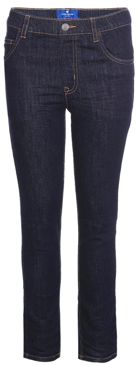 Джинсы для мальчика Tom Tailor Tim, цвет: темно-синий. 6205780.09.82. Размер 986205780.09.82Детские джинсы для мальчика Tom Tailor с перманентными складками. Модель прямого кроя и средней посадки в поясе застегивается на пуговицу, имеются ширинка на молнии и шлевки для ремня. Джинсы имеют классический пятикарманный крой.
