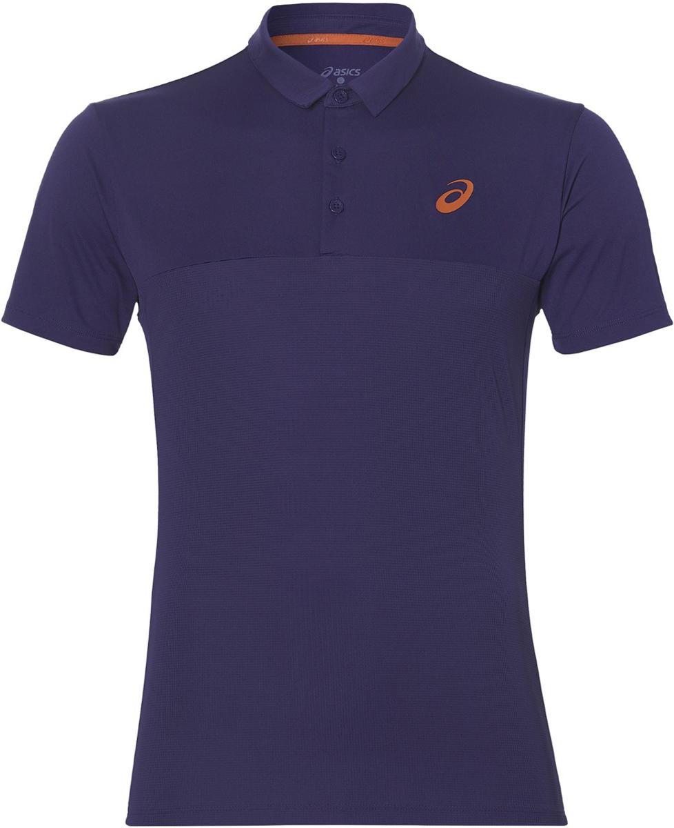 Поло мужское Asics Padel Polo, цвет: синий. 141166-8010. Размер XL (54)141166-8010Теннисная футболка-поло от Asics по-прежнему пользуется популярностью у миллионов игроков теннисных клубов. Ведите свою игру и ощутите максимум комфорта в каждом сете.