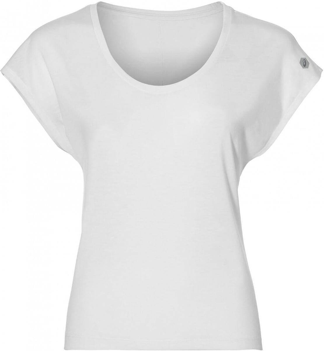 Футболка для фитнеса женская Asics SS Tee, цвет: белый. 149103-0014. Размер XL (50/52)149103-0014Футболка от Asics предназначена специально для бега и тренировок. Эта футболка обеспечит вам безупречный комфорт и достижение высоких спортивных результатов благодаря мягкой, эластичной ткани, которая отводит влагу и поддерживает тело сухим. Плоские швы не натирают кожу и обеспечивают полный комфорт. Фасон рукавов-реглан элегантен и создает свободу движений. Футболка декорирована логотипом. Максимальный комфорт и уникальный спортивный образ!