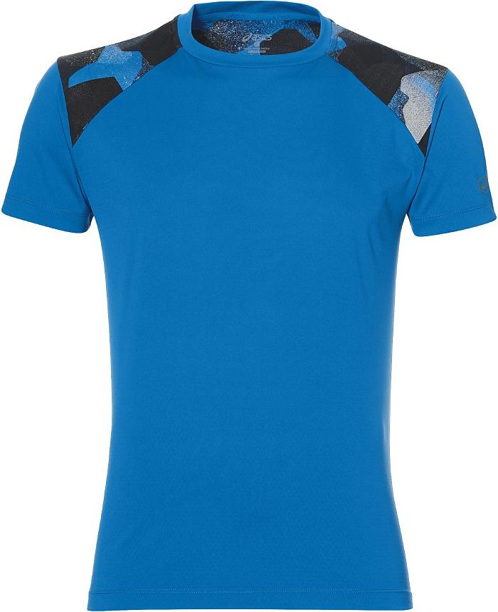 Футболка для бега мужская Asics Fuzex Tee, цвет: синий. 141238-0819. Размер S (46)141238-0819Футболка Asics предназначена специально для бега тренировок. Эта футболка обеспечит вам безупречный комфорт и достижение высоких спортивных результатов благодаря мягкой, эластичной ткани, которая отводит влагу и поддерживает тело сухим. Плоские швы не натирают кожу и обеспечивают полный комфорт. Фасон рукавов-реглан элегантен и создает свободу движений. Футболка декорирована логотипом. Максимальный комфорт и уникальный спортивный образ!