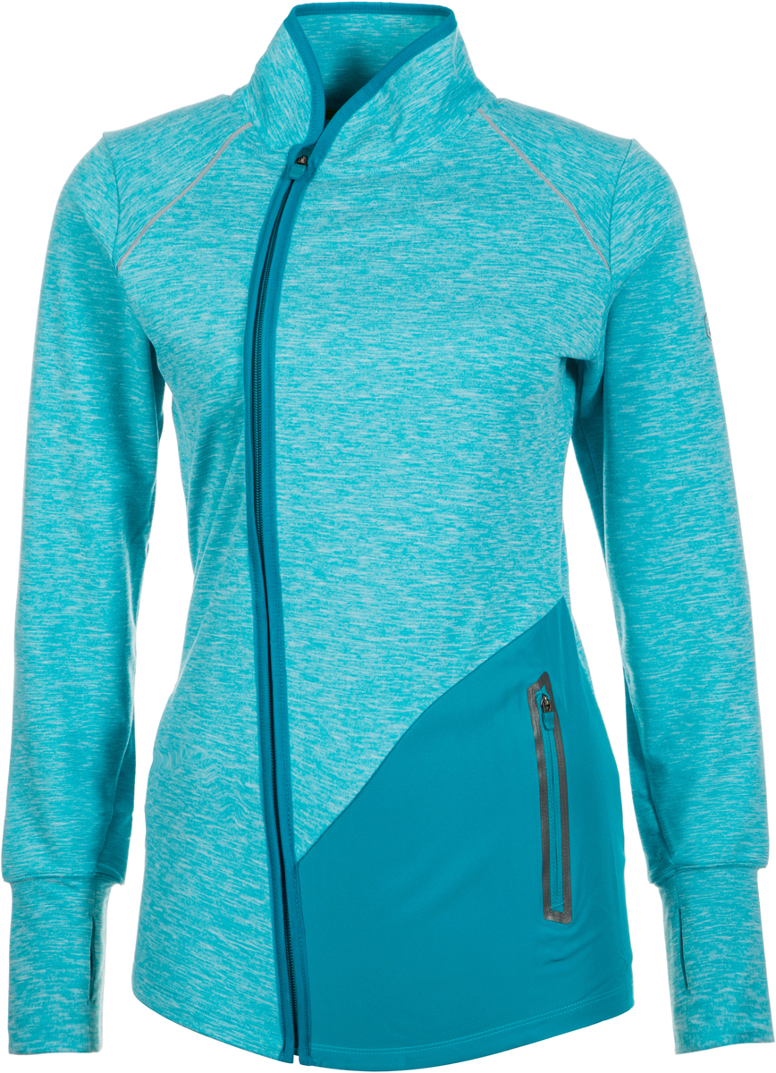 Куртка женская Asics Thermopolis Jacket, цвет: голубой. 146629-8057. Размер L (48/50)146629-8057В куртке от Asics из ветронепроницаемой и водоотталкивающей ткани вы сможете бегать в любую погоду. Прочный материал, устойчивый к воздействию ветра и воды, на спине дополнен эластичными трикотажными вставками, что делает движения более свободными. Также имеется два надежных кармана на молнии для телефона и ключей. Приток воздуха можно регулировать основной полноразмерной молнией со специальной вставкой для защиты подбородка от натирания. Дышащая ткань. Устойчивость к ветру и воде. Светоотражающий логотип Asics.