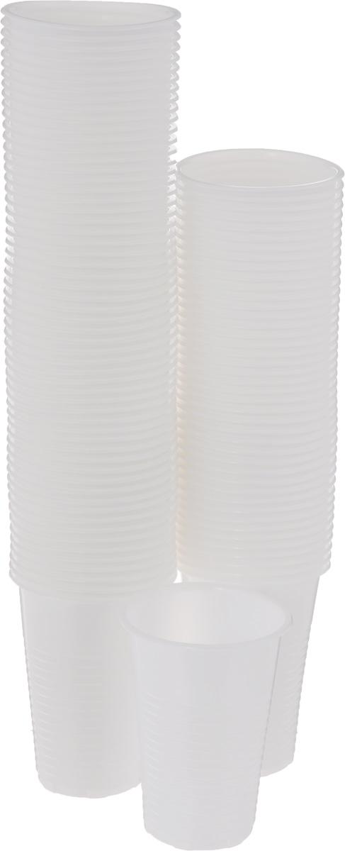 Стакан одноразовый Мистерия, цвет: белый, 200 мл, 100 шт170218Стаканы одноразового применения Мистерия выполнены из полипропилена. Подходят для холодных и горячих (до +70°С) напитков.