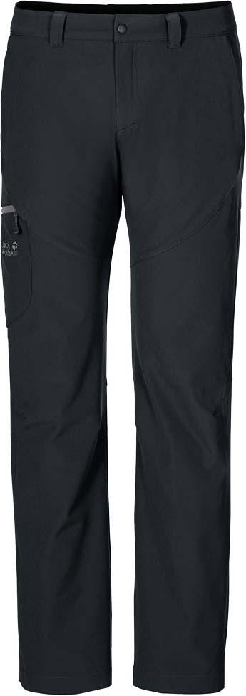 Брюки утепленные мужские Jack Wolfskin Chilly Track Xt Pants M, цвет: черный. 1502381-6000. Размер 52 (52)1502381-6000Эластичные ветро-и водонепроницаемые брюки Jack Wolfskin Chilly Track Xt Pants изготовлены из софтшелла с теплой подкладкой из микрофлиса. Модель прямого кроя стандартной посадки на талии имеет застежку-молнию в ширинке и пуговицу на поясе. Имеются шлевки для ремня. Изделие дополнено двумя втачными карманами спереди, двумя прорезными - сзади и накладным карманом на застежке молнии на брючине сбоку. Нет ничего лучше морозной погоды и свежего воздуха. С теплом и практичностью, которые дарят брюки Chilly Track Xt Pants , вы сможете наслаждаться зимним пейзажем столько, сколько захотите. Эти удобные брюки рассчитаны для активного зимнего отдыха. Они сшиты из эластичного материала софтшелл Flex Shield, который и делает их такими комфортными. Ткань также прекрасно дышит и обладает водо- и ветронепроницаемыми свойствами. Внутри есть теплая подкладка из микрофлиса. Она позволяет не бояться внезапных похолоданий. Практичные брюки Chilly Track подходят для широкого спектра зимней погоды и видов активного отдыха, начиная от простых прогулок пешком до лыжных кроссов