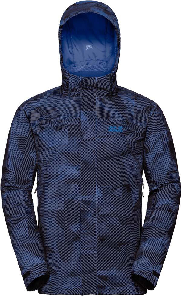 Куртка мужская Jack Wolfskin Mountain Edge Jacket M, цвет: темно-синий. 1109801-7523. Размер XL (52)1109801-7523Водонепроницаемая, дышащая зимняя куртка с утеплителем и эргономичным капюшоном Jack Wolfskin Mountain Edge Jacket обеспечит вам надежное тепло для холодных дней. Модель прямого кроя с воротником-стойкой, надежно защищающим от ветра, и съемным капюшоном с возможностью регулировать внутренний объем и область обзора застегивается на молнию с ветрозащитной планкой на липучках и дополнена 2 карманами на бедрах ивнутренним карманом. На манжетах рукавов имеются хлястики на липучках для регулировки объема. Вам не нужны приложения или гаджеты, чтобы насладиться живой природой, вам нужна лишь подходящая куртка. Куртка, разработанная специально для того, чтобы противостоять зимним погодным условиям. Такая, как Mountain Edge.Эта базовая куртка для хайкинга водо- и ветронепроницаема и утеплена. Внешняя ткань представляет собой сверхмягкую версию проверенного временем материала Texapore Stretch Decor 2L (водостойкость в мм водяного столба: 10 000 мм, паропроницаемость (MVTR): > 6000 г/м2/24 ч). Она приятно-шершавая на ощупь и тянется, когда вы двигаетесь. Сквозь нее до вас не доберется ни дождь, ни снег - даже в условиях затяжного ливня или метели.Устойчивый к влаге синтетический утеплитель Microguard, разработанный специально для температур ниже нуля, отлично удерживает тепло.