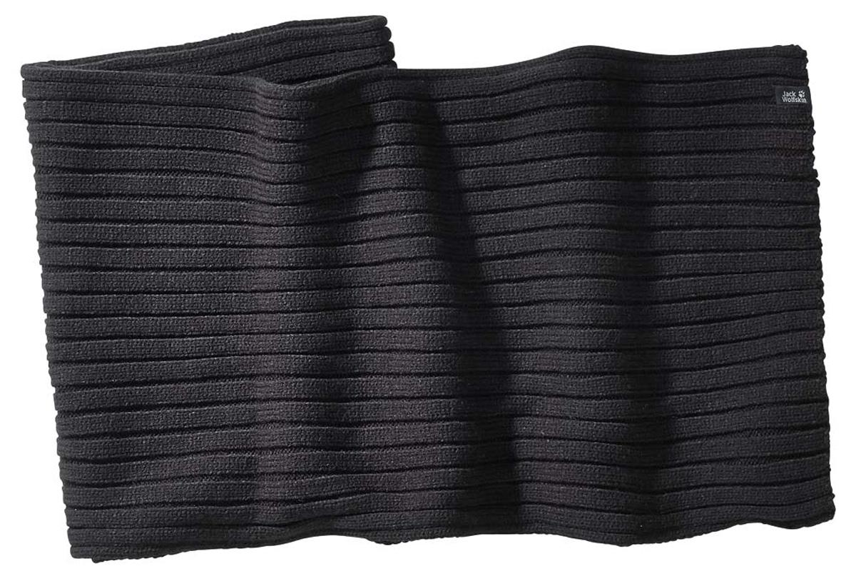 Шарф мужской Jack Wolfskin Manitoba Scarf, цвет: черный. 1905231-6000. Размер универсальный1905231-6000Шарф Jack Wolfskin Manitoba Scarf - теплый вязаный шарф с простым дизайном. Идеальный для хайкинга или на каждый день, вязаный шарф Manitoba - необходимая вещь в зимнем гардеробе.Шарф связан из легчайших акриловых нитей. Мягкий и приятный на ощупь, в случае намокания от дождя или снега он очень быстро сохнет, что делает его незаменимым для зимних приключений.