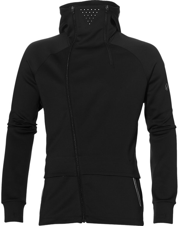 Куртка-бомбер мужская Asics Fuzex Urbanadapt JKT, цвет: черный. 146616-0904. Размер S (46)146616-0904В куртке FuzeX Urban от Asics есть все, что вам нужно для интенсивных тренировок. Сочетание используемых материалов делает эту куртку легкой и удобной. Asics MotionDry — технология, при которой испаряется влага, но сохраняется тепло вашего тела. Светоотражающие элементы способствуют комфортным тренировкам в темное время суток.