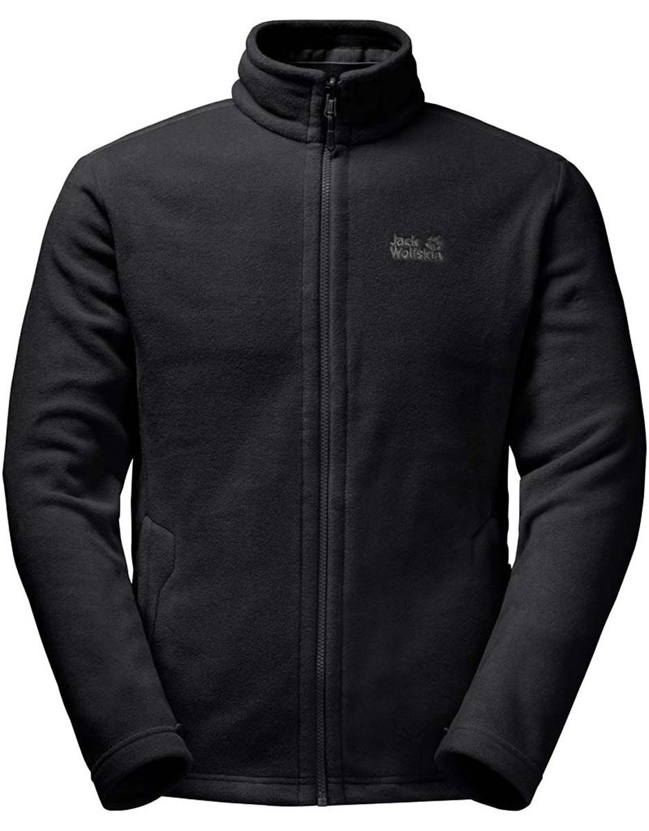 цена Толстовка мужская Jack Wolfskin Moonrise Jacket M, цвет: черный. 1702061-6000. Размер S (42) онлайн в 2017 году