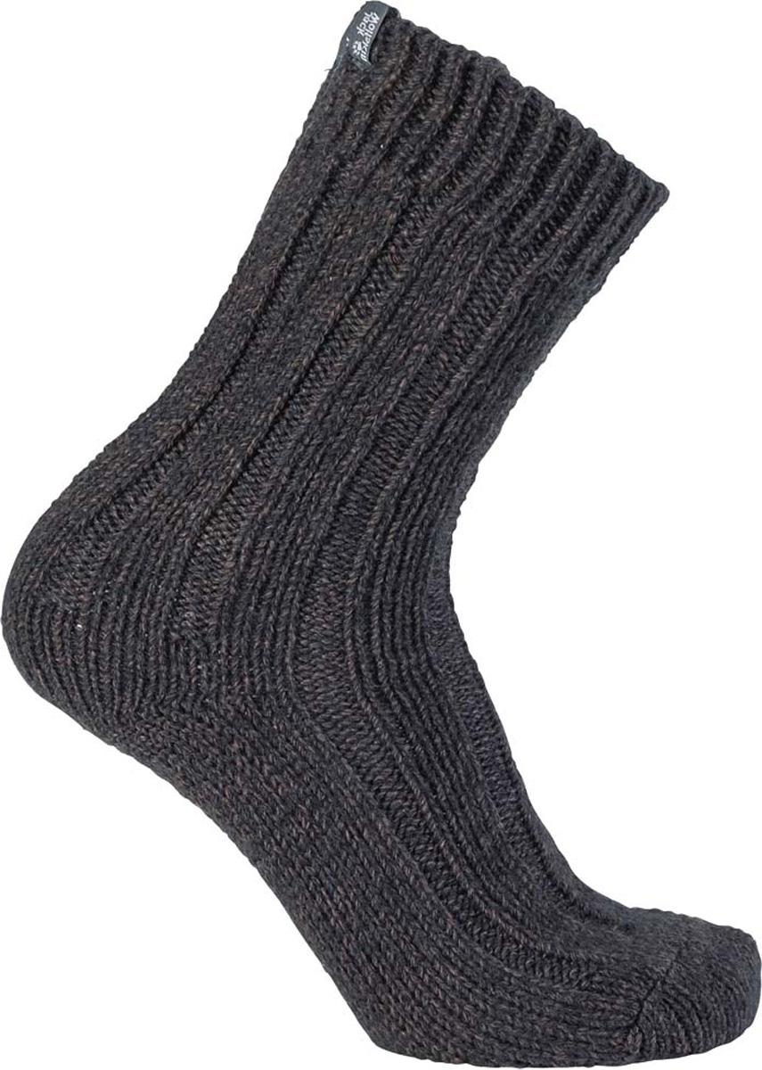 Носки Jack Wolfskin Recovery Wool Sock Classic Cut, цвет: темно-серый. 1904491-6320. Размер 35/37 носки jack wolfskin носки casual organic inside cut 2x