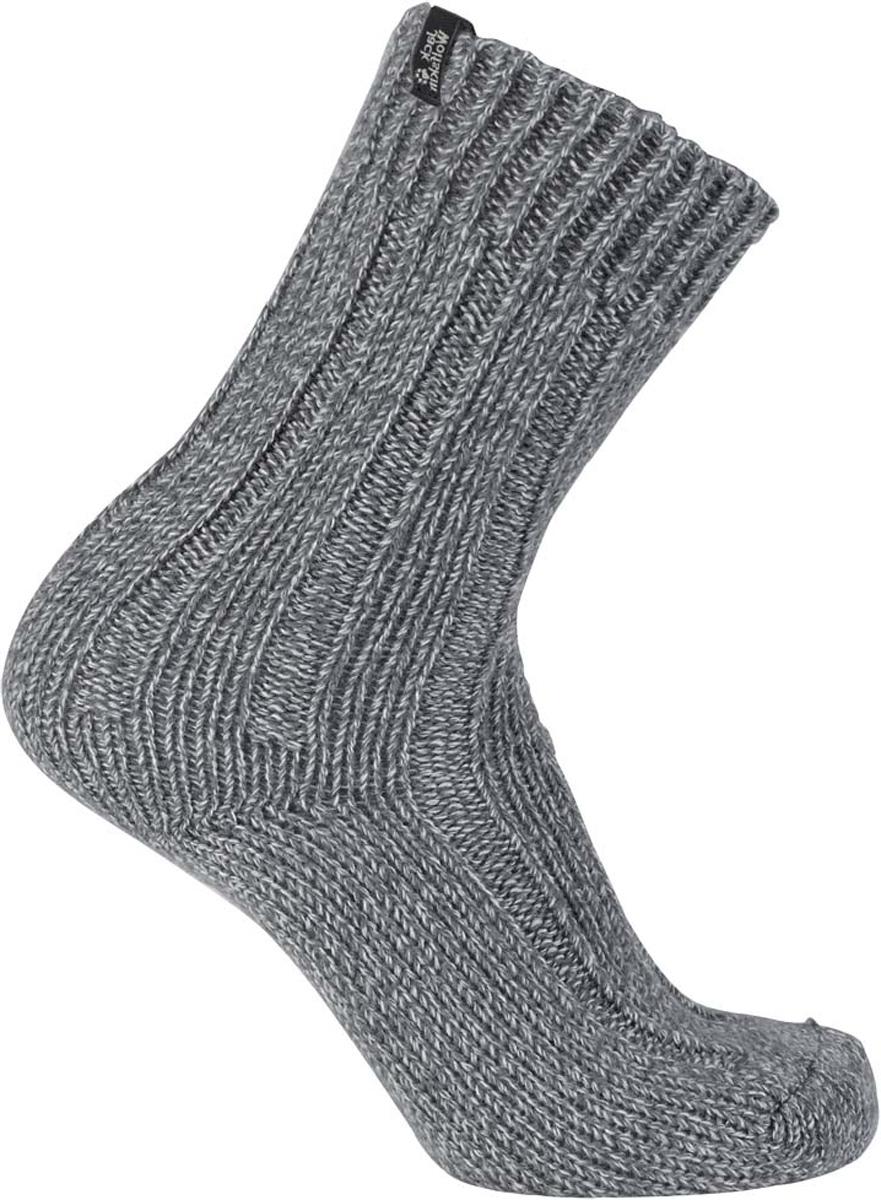 Носки Jack Wolfskin Recovery Wool Sock Classic Cut, цвет: светло-серый. 1904491-6111. Размер 38/401904491-6111Вязаные носки для повседневной носки и для дома Jack Wolfskin Recovery Wool Sock Classic Cut изготовлены из смеси шерсти и акрила. После тяжелого дня самое время побаловать свои ноги уютными носками. Связанные из мягкой смешанной пряжи, эти носки невероятно теплые и удобные. Идеальны для уютного вечера дома или в хижине.
