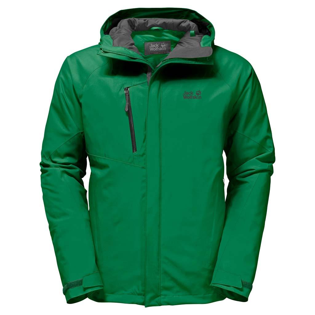 Куртка мужская Jack Wolfskin Troposphere M, цвет: зеленый. 1106901-4082. Размер L (48/50)1106901-4082Зимняя куртка для хайкинга Jack Wolfskin Troposphere изготовлена из водо- и ветронепроницаемого материала с теплой подкладкой. Модель прямого кроя с высоким воротником-стойкой, надежно защищающим от ветра, застегивается на молнию с ветрозащитной планкой на кнопках и дополнена вшитым капюшоном с защитным козырьком и возможностью регулировать внутренний объем и область обзора. Изделие имеет два кармана на бедрах, нагрудный карман, внутренний карман, вентиляционные молнии в подмышечной области, дополнительные манжеты и канал для провода наушников. С курткой Jack Wolfskin Troposphere погода и температура на улице перестанут иметь для вас значение. Все благодаря одному преимуществу этой водо- и ветронепроницаемой куртки - инновационному утеплителю Downfiber - продуманной смеси пуха и перьев с водоотталкивающей обработкой и синтетических волокон. Этот утеплитель не только очень эффективный, но еще и ультралегкий и нечувствительный к влаге. А благодаря прекрасно дышащей ткани Texapore, эта замечательная куртка готова к новым масштабным приключениям. - Материал верха: Texapore O2+ Stretch 2L: эластичная, совершенно водо- и ветронепроницаемая, невероятно дышащая наружная ткань (водостойкость в мм водяного столба: 20 000, паропроницаемость (MVTR): > 15 000 г/м2/24 ч). - Утеплитель 1: Downfiber 700 cuin: утеплитель состоит из 70% утиного пуха с водоотталкивающей обработкой и 30% невероятно теплых, быстросохнущих и легких в уходе синтетических волокон с высоким ворсом (упругость 700 cuin); сертифицировано RDS. - Утеплитель 2: Microguard (120 г/м2): эффективный синтетический утеплитель.