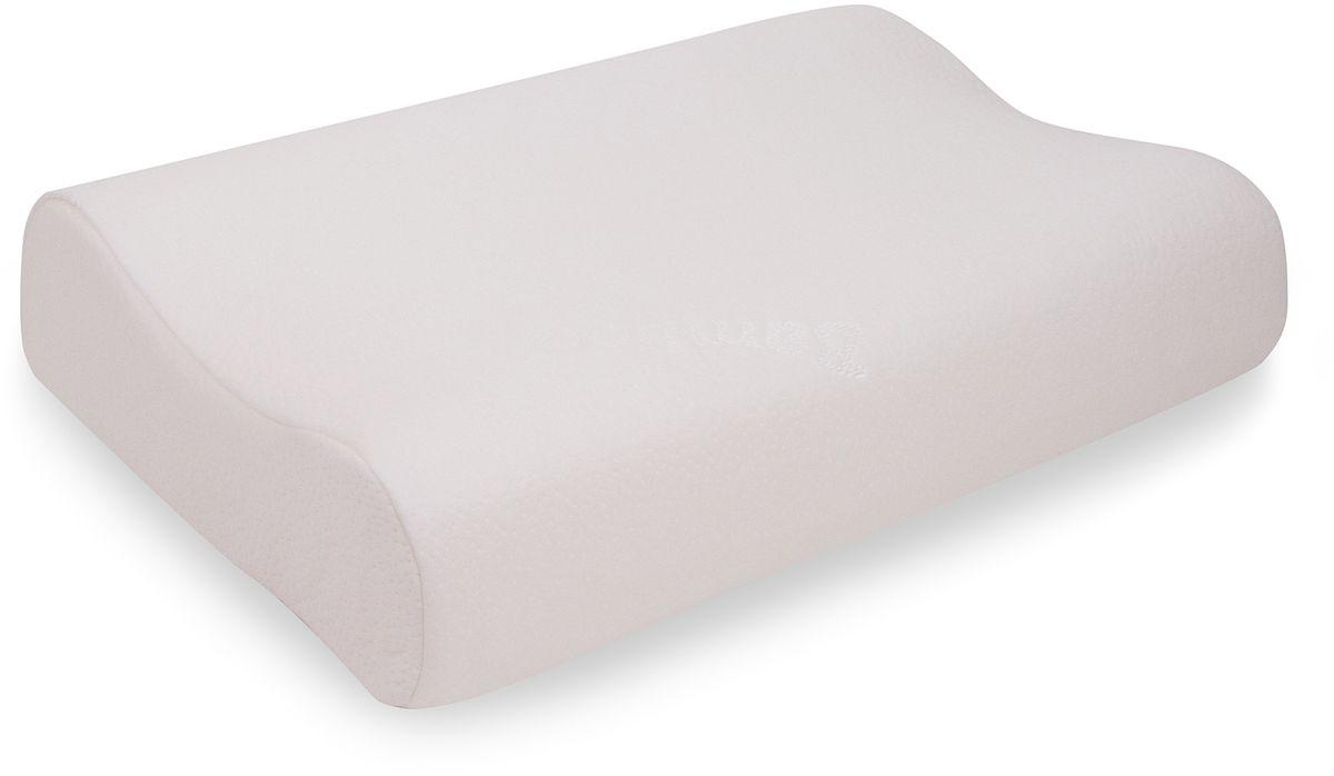 Подушка ортопедическая ViskoLove, с эффектом памяти, 60 х 43 х 14 смV7007Невероятно комфортная подушка с эффектом памяти формы и двумя анатомическими валикамиразной высоты. Такая форма делает подушку удобной для сна как на спине, так и на боку. Меняяпозу, просто переверните подушку и ее рельеф поможет вам расположиться максимальнокомфортно. Эта подушка будет удобна человеку среднего или крупного телосложения, атакже обладателям высокого роста.Подушка из высококачественной эластичной пеныпрослужит вам долгое время, заботясь о вашем здоровье и приятном отдыхе.