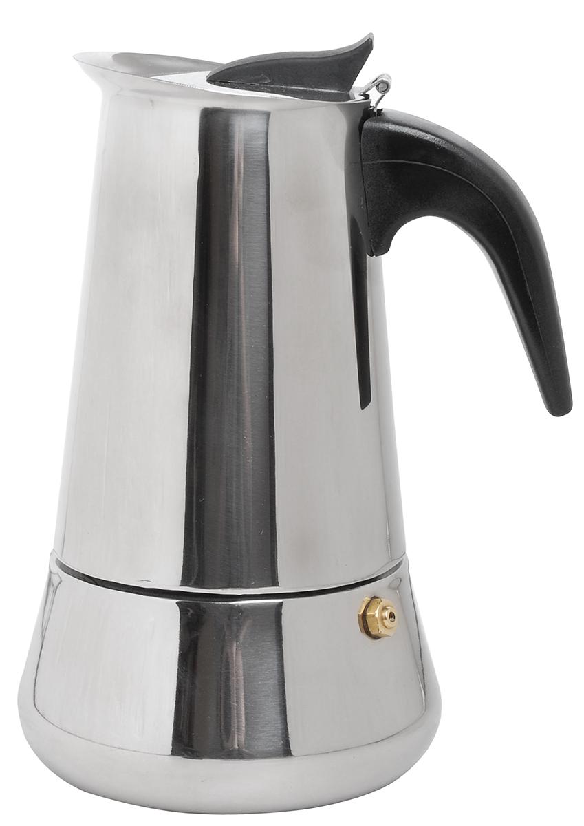 Кофеварка гейзерная Queen Ruby, 300 мл. QR-6028QR-6028Кофеварка гейзерная Queen Ruby изготовлена из высококачественной нержавеющей стали. Изделие оснащено удобной пластиковой ручкой.Принцип работы гейзерной кофеварки - кофе заваривается путем многократного прохождения горячей воды или пара через слой молотого кофе. Удобство такой кофеварки в том, что вся кофейная гуща остается во внутренней емкости. Гейзерные кофеварки пользуются большой популярностью благодаря изысканному аромату. Кофе получается крепкий и насыщенный. Теперь и дома вы сможете насладиться великолепным эспрессо. Подходит для газовых, электрических, стеклокерамических, индукционных плит. Объем: 300 мл.