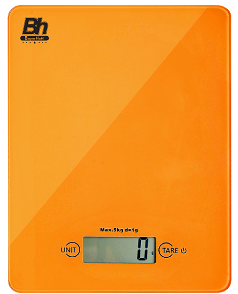 Весы кухонные электронные Bayerhoff, цвет: оранжевый. BH-5602BH-5602