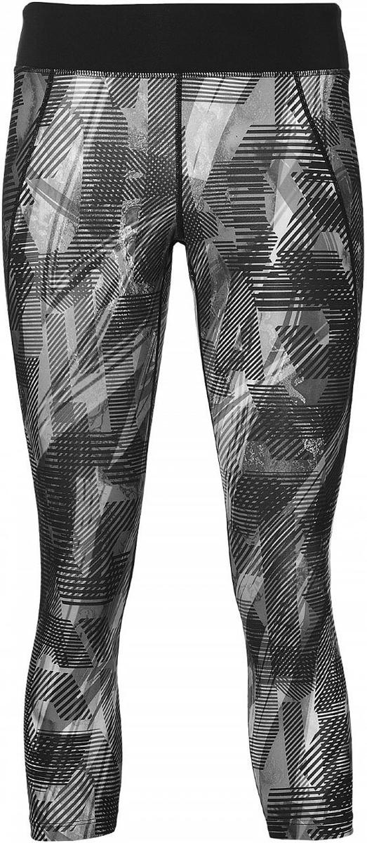 Тайтсы для фитнеса женские Asics Crop Tight, цвет: черный. 140937-0904. Размер XS (42)140937-0904Тайтсы для фитнеса женские Asics Crop Tight, выполненные из полиэстера и эластана, оформлены оригинальным принтом и фирменной аппликайией. Модель со стандартной посадкой дополнена небольшим вшитым карманом на поясе.
