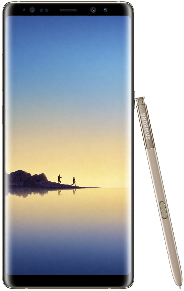 Samsung SM-N950F Galaxy Note 8, YellowSM-N950FZDDSERВаша возможность увидеть больше и общаться по-новому. Добивайся большего с Samsung Galaxy Note 8!Экран Galaxy Note 8 с диагональю 6.3 открывает перед вами новые возможности. Да, он стал еще больше, но смартфон по-прежнему легко помещается в руке.Galaxy Note 8 с Безграничным экраном диагональю 6.3 - воплощение инноваций. Это самый больший экран в истории устройств Galaxy Note. Теперь вы сможете увидеть больше, теперь у вас еще больше пространства для использования S Pen. И в то же время Galaxy Note 8 удобно лежит в руке благодаря тонкому корпусу с изогнутыми краям и соотношением сторон 18.5:9.Просмотр фильмов приносит еще больше удовольствия на Безграничном экране с соотношением сторон 18.5:9. При горизонтальном просмотре рабочая площадь экрана Galaxy Note 8 становится на 14% шире, что делает просмотр еще увлекательнее где бы вы ни находились.Сканнер отпечатка пальца практически сливается воедино с тыльной стороной корпуса. Кнопка Домой расположена прямо под экраном в нижней части смартфона. Ничего подобного раньше не было.Соотношение сторон 18.5:9 - идеально для многозадачности. Включите мультиоконный режим для параллельного отображения двух приложений на экране. Если вы постоянно используете два приложения одновременно, функция App Pairing позволит сразу запустить их открыть одним нажатием. Теперь как никогда просто одновременно слушать музыку, прокладывать маршрут или искать нужный товар в онлайн-магазине.Просматривать ленту новостей в соцсети или записывать кулинарный рецепт в Samsung Note 8 теперь еще удобнее, ведь на экране с соотношением сторон 18.5:9 не придется много скролить.С электронным пером S Pen у вас еще больше возможностей для самовыражения. Создавайте собственные эмоджи, анимированные GIF или делайте рукописные подписи к фото и пересылайте их в виде сообщений. Анимированные сообщения позволят выразить больше эмоций по отношению к тому, кто вам дорог.Cлов недостаточно? Расскажите о том, что чувствуе