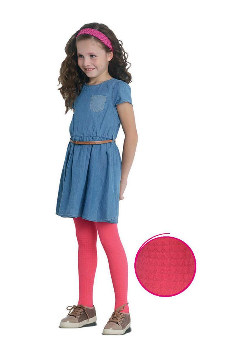 Колготки для девочки Penti Amore 40, цвет: коралловый. m0c0327-0008 PNT_128. Размер 1 (85/100)m0c0327-0008 PNT_128Детские колготки изготовлены из высококачественного эластичного материала. Колготки выполнены с мягкой резинкой на поясе и оформлены оригинальным рисунком.