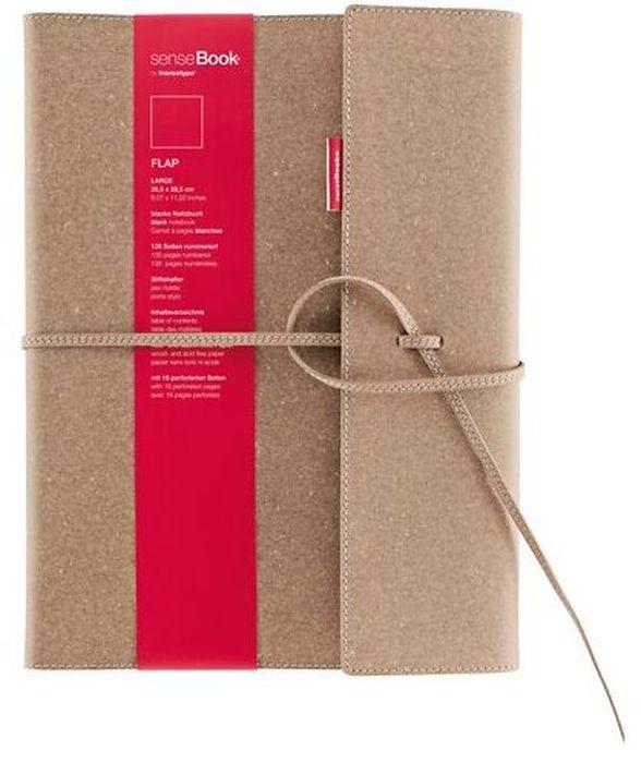 Sense Book Блокнот Flap L 136 листовH75010-400Блок бумаги для набросков (скейтчбук) Sense Book рекомендуется как начинающим художникам, так и профессионалам. Переплет ручной работы сшит из натуральной кожи, крепеж - кожаная шнуровка. Пронумерованные страницы, петелька для ручки или линера, первые страницы содержат блоки для записи личной информации, последние 16 страниц содержат микро-перфорацию, последняя страница имеет обозначение линейки в сантиметрах и дюймах, есть кармашек под визитки.
