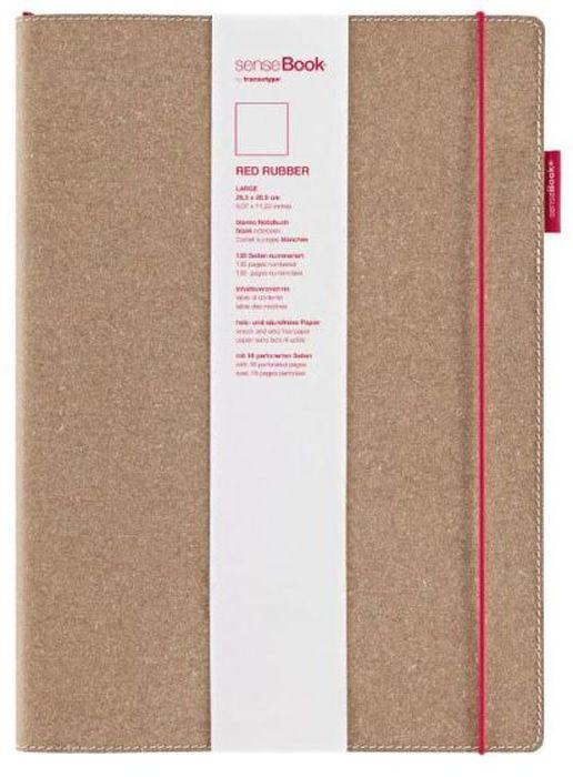 Sense Book Блокнот Red Rubber L 136 листов в клеткуH75020-402Блок бумаги для набросков (скейтчбук) Sense Book рекомендуется как начинающим художникам, так и профессионалам. Переплет ручной работы сшит из натуральной кожи, крепеж - кожаная шнуровка. Пронумерованные страницы, петелька для ручки или линера, первые страницы содержат блоки для записи личной информации, последние 16 страниц содержат микро-перфорацию, последняя страница имеет обозначение линейки в сантиметрах и дюймах, есть кармашек под визитки.