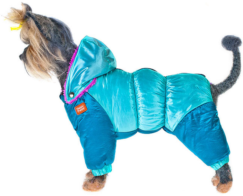 Пуховик для собак Happy Puppy, для мальчика, цвет: синий, голубой. Размер XL huahejing синий цвет номер xl