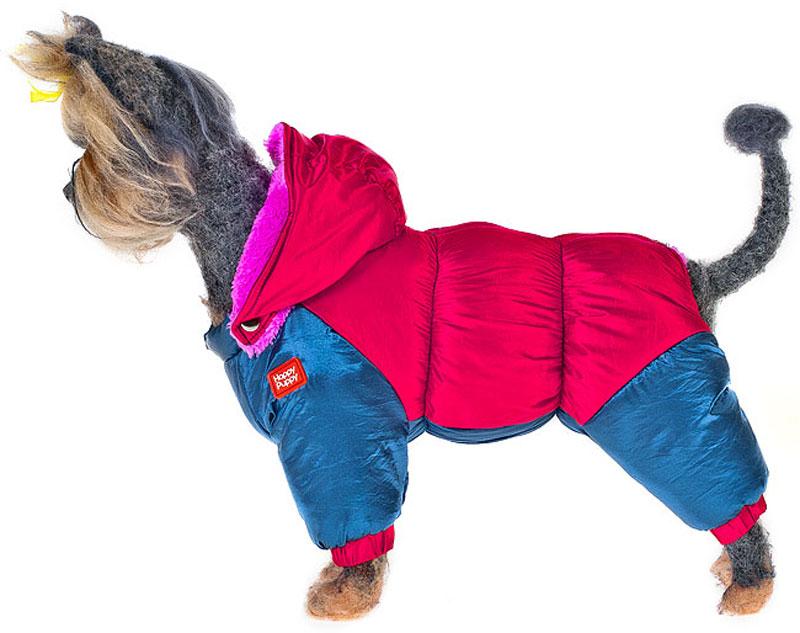 Пуховик для собак Happy Puppy, для девочки, цвет: красный, синий. Размер LHP-160053-3