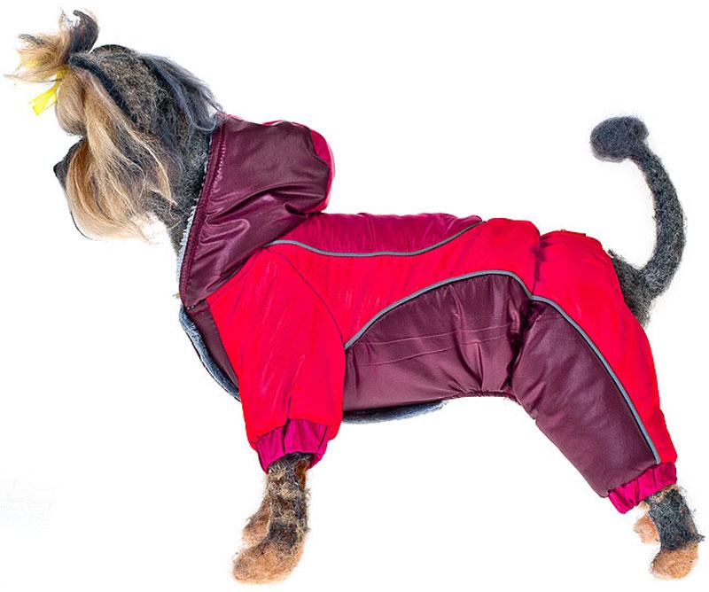 """Комбинезон для собак Happy Puppy """"Фристайл"""", унисекс, цвет: красный, бордовый. Размер 4 (XL)"""