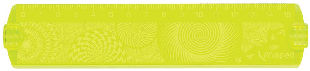Maped Линейка Geocustom цвет желтый 15 см254015_желтыйЛинейка Maped Geocustom, выполненная из пластика, имеет шкалу на 15 см. Обязательный атрибут любого школьника.Сделайте линейку неповторимой: раскрасьте рисунки на обратной стороне. Высушите. Удалите избыток краски тряпочкой.