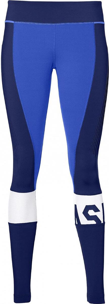 Тайтсы женские Asics Color Block Tight, цвет: синий. 146422-8091. Размер L (48/50)146422-8091Эти тайтсы от Asics обеспечивают вам поддержку и комфорт во время пробежек и занятий, благодаря мягкой ткани с легкой компрессией.