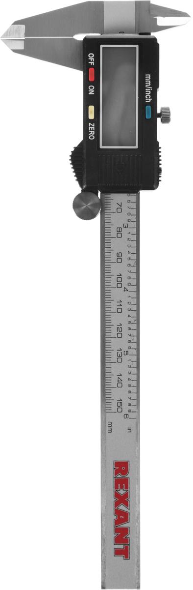 Штангенциркуль электронный Rexant, 15 см12-9100Электронный штангенциркуль Rexant применяется в машиностроении, приборостроении и других отраслях промышленности для измерения наружных и внутренних линейных размеров, а также глубин. Прецизионная обработка обеспечивает высокую точность измерений. Прибор работает от 2 батареек типа LR44 (входят в комплект).В комплекте пластиковый футляр для переноски и хранения.Измеряемая длина: 15 см.Размер шага: 0,01 мм.