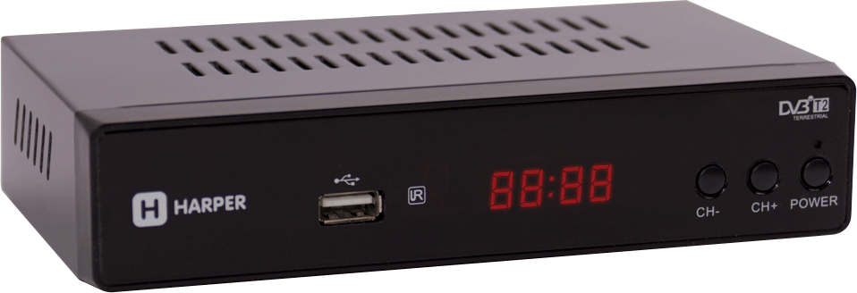 Harper HDT2-5050, Black цифровой телевизионный ресивер DVB-T2 - ТВ-ресиверы