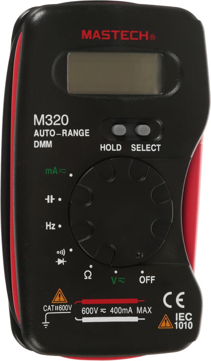 Мультиметр портативный Mastech M32013-2009Мультиметр Mastech M320 - это электроизмерительный прибор, который включает в себя определенный набор измеряемых параметров ифункций. Прибор представляет собой компактный, удобный измерительный инструмент, который можно всегда держать под рукой. С помощьюданного прибора можно измерять постоянное и переменное напряжение, постоянный и переменный ток, сопротивление, емкость и частоту. Атакже можно проводить тестирование диодов и прозвонку целостности цепи. Его конструкция разработана таким образом, чтобы щупынаматывались и фиксировались на торцах прибора. Благодаря этому прибор действительно удобно брать с собой и не опасаться, взяли ли выщупы и куда вы их положили. Инженеры старались максимально упростить прибор, и по этому с ним легко работать даже одной рукой. MastechM320 имеет функцию автоматического выбора пределов измерений. В отличие от устаревших моделей, где вам приходилось вручнуювыставлять пределы, сейчас же нужно всего лишь выбрать, какой из параметров вы собираетесь измерять. Кроме того, у прибора усиленныйпереключатель, благодаря которому исключается возможность случайного нажатия. Он изготовлен из высококачественных материалов,калибровка и тестирование произведено под контролем компании REXANT INTERNATIONAL. Характеристики: Постоянное напряжение: 400 мВ/4В (±0,5%+3), 40В/400В/600В (±0,8%+3). Переменное напряжение: 4В/40В/400В/600В (±0,8%+4). Постоянный ток: 40 мA/400 мA (±2,0%+3). Переменный ток: 40 мA/400 мA (±3,0%+4). Сопротивление: 400 Ом/4 КОм/40 КОм/400 КОм/4 МОм (±1,0%+3), 40 МОм (±2,0%+4). Емкость: 4 нФ/40 нФ/400 нФ/4 мкФ/40 мкФ/100 мкФ (±3,0%+3). Частота: 0~100кГц (±0,5%+3). 4х разрядный дисплей. Автоматический выбор пределов измерений. Автоматическое отключение. Режим удержания измерений Data hold. Тестирование диодов. Прозвонка целостности цепи. Импеданс: Тип батареи: SR44 или LR44 (Таблетка).