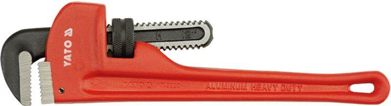 Ключ трубный Yato Stillson, 14, длина 35 смYT-2490Ключ трубный Yato Stillson изготовлен из инструментальной стали CrV и используется для монтажа и демонтажа у трубных резьбовых соединений. Ключ эффективен в работе благодаря его специальной усиленной конструкции.Специально разработанный угол наклона зубцов позволяет выполнить максимально возможное усилие захвата.Длина: 35 см. Наклон губок: 90°. Форма губок: S. Размер: 14.