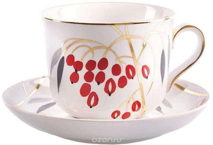 Чашка чайная Дулевский Фарфор Ностальгия. Кизил, с блюдцем, 450 мл075382Чашка Дулевский Фарфор выполнена из высококачественного фарфора и оформленаоригинальным рисунком. Посуда из такого материала позволяет сохранить истинный вкуснапитка, а также помогает ему дольше оставаться теплым. В комплект входит блюдце. Такойнабор идеально подойдет для чая и придется по вкусу ценителям классики, и тем, ктопредпочитает утонченность и изысканность.