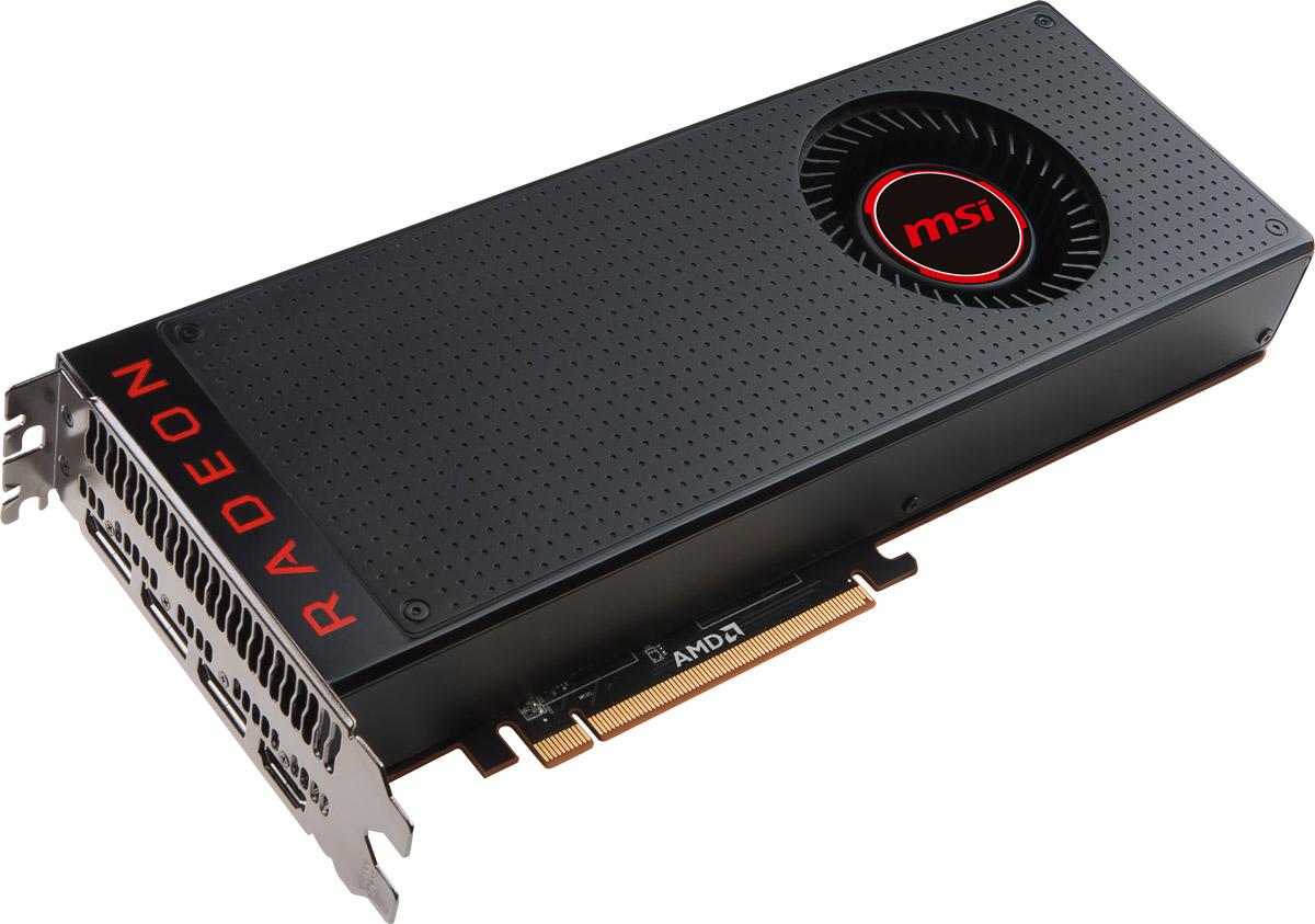 MSI Radeon RX Vega 64 8GB видеокартаRX VEGA 64 8GГрафическая карта MSI Radeon RX Vega 64 разработана специально для экстремальных геймеров, кто стремится к высочайшей производительности в играх на максимальных разрешениях с самым высоким FPS, поддержкой передовых технологий и заделом на будущее.Одним из решающих факторов в производительности является качество используемых компонентов. Вот почему MSI использует только MIL-STD-810G сертифицированные компоненты для карты Radeon, ведь только эти компоненты оказались в состоянии выдержать напряженные условия экстремального гейминга и разгона.Для того чтобы в полной мере насладиться впечатляющими мирами виртуальной реальности необходимо высокопроизводительное оборудование. Хотите подготовить вашу систему к поддержке технологий VR? MSI - ведущий мировой бренд в мире high-end гейминга и киберспорта дает совет как это сделать. Объединяя только самые передовые технологии, MSI создает оборудование для приложений виртуальной реальности. MSI переносит любителей компьютерных игр на совершенно новый уровень реализма виртуальной реальности, где игры оживают.Твердотельные конденсаторы Solid CAP с их алюминиевым сердечником долгое время являются одним из определяющих факторов в дизайне, так как обеспечивают более низкое эквивалентное последовательное сопротивление (ESR), а также 10-летний срок службы.MSI Afterburner – это самое популярное приложение в мире для разгона графических карт, которое позволяет получить полный контроль над видеокартой. Утилита также позволяет получать исчерпывающую информацию об аппаратной части вашего ПК, производить настройку работы вентиляторов, осуществлять запись видео и выполнять тестирование.