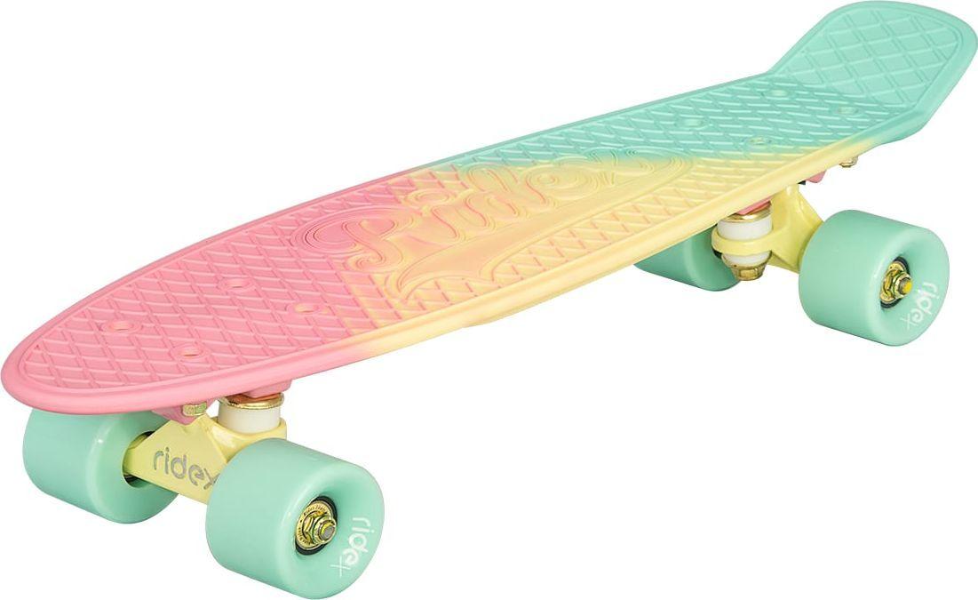 Круизер Ridex Malibu, цвет: розовый, 56 х 15 см, ABEC Nine NylonУТ-00009669Круизер Ridex Malibu - неповторимая модель в коллекции круизеров 2017 года, станет поводом для восторга всех окружающих, благодаря своему оригинальному дизайну.Приятное сочетание ярких оттенков и технология rubber painting, создающая бархатно-матовое защитное покрытие, производят неизгладимое впечатление на представителей как женской, так и мужской аудитории.Усиленная алюминиевая подвеска позволяет управлять креном доски, повышая точность движений.Полиуретановые бушинги обеспечивают плавный поворот, но при этом не допускают излишнего прогиба подвески и задевания деки колесами.Скоростные качества и уверенный накат круизера гарантируют высококачественные подшипники ABEC NINE Nylon, а мягкие полиуретановые колеса компенсируют любые вибрации на неровных поверхностях, позволяя испытать непередаваемые ощущения от катания!
