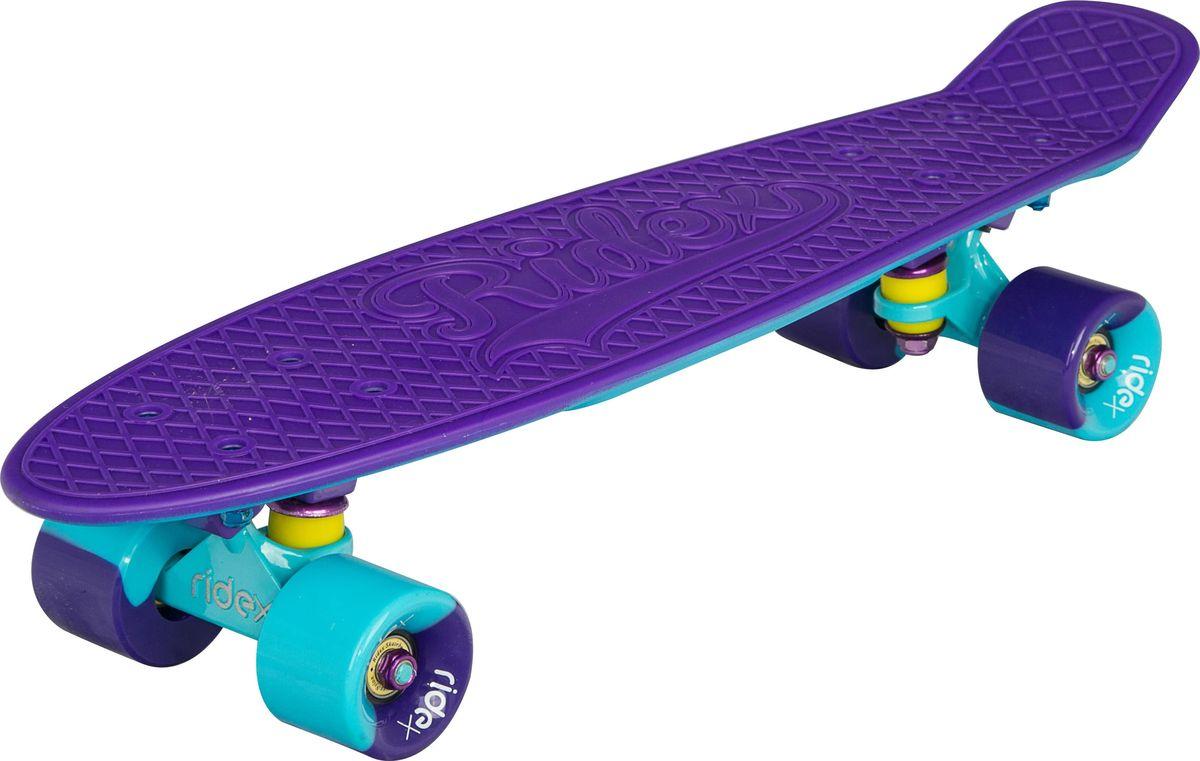 Круизер Ridex Paradise, цвет: фиолетовый, 56 х 15 см, ABEC Nine NylonУТ-00009671Круизер Ridex Paradise - неповторимая модель в коллекции круизеров 2017 года, станет поводом для восторга всех окружающих, благодаря своему оригинальному дизайну.Приятное сочетание ярких оттенков и технология rubber painting, создающая бархатно-матовое защитное покрытие, производят неизгладимое впечатление на представителей как женской, так и мужской аудитории.Усиленная алюминиевая подвеска позволяет управлять креном доски, повышая точность движений.Полиуретановые бушинги обеспечивают плавный поворот, но при этом не допускают излишнего прогиба подвески и задевания деки колесами.Скоростные качества и уверенный накат круизера гарантируют высококачественные подшипники ABEC NINE Nylon, а мягкие полиуретановые колеса компенсируют любые вибрации на неровных поверхностях, позволяя испытать непередаваемые ощущения от катания!