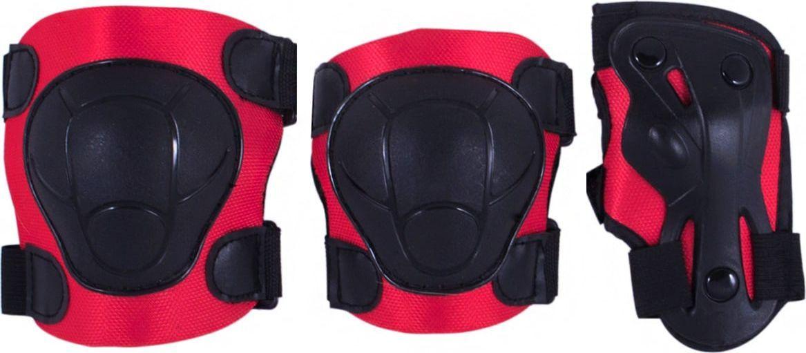 Комплект защиты Ridex Armor, цвет: красный. Размер SУТ-00008177В комплект защитной экипировки Ridex Armor входят: наколенники и налокотники - закрывают и предохраняют от ударов локти и колени - места вечных ссадин у детей. Специальная защита для запястий защищает кисть от ударов и предохраняет от вывихов. Вывихи, ушибы и переломы запястий - вообще самые частые травмы при катании на роликах, вне зависимости от стиля катания, опытности и других факторов. Крепкая пластиковая накладка для защиты суставов. Фиксируются при помощи удобных велькро липучек.