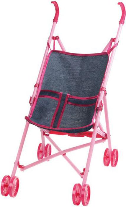 1Toy Коляска-трость для куклы Красотка-Джинс цет серый Т10380 доска гладильная marek доска для глажения ma 013