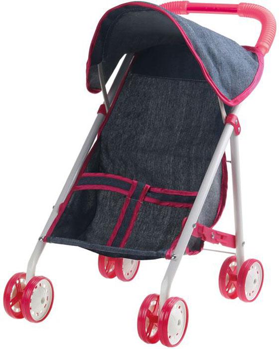 1Toy коляска прогулочная для куклы Красотка-Джинс цвет серый 1toy с мебелью 187 деталей красотка