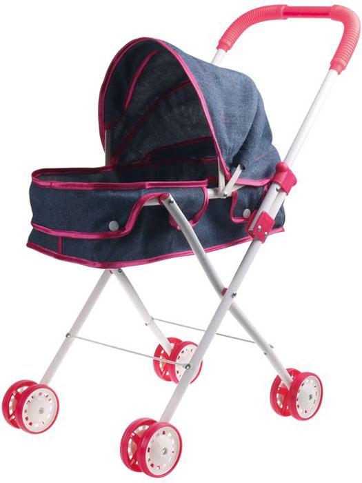1Toy Коляска-люлька для куклы Красотка Джинс Т10383 коляска люлька