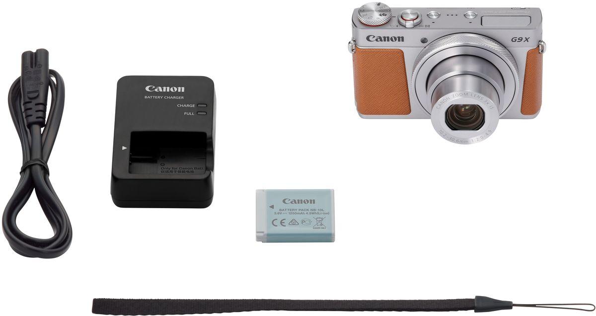 Canon PowerShot G9 X Mark II, Silverцифровая фотокамера