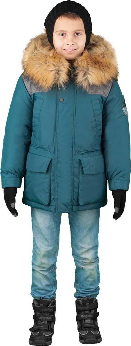 Куртка для мальчика Boom!, цвет: синий. 70491_BOB_вар.3. Размер 146, 10-11 лет70491_BOB_вар.3Куртка от Boom! изготовлена из водонепроницаемого и ветрозащитного материала с утеплителем из синтепона и Flexy Fiber. Модель с подстежкой застегивается на пластиковую застежку-молнию. Куртка дополнена несъемным капюшоном с опушкой из искусственного меха и вместительными карманами. Универсальная модель, как на морозы, так и на оттепель. Оригинальные дизайнерские элементы делают модель необычной и яркой.