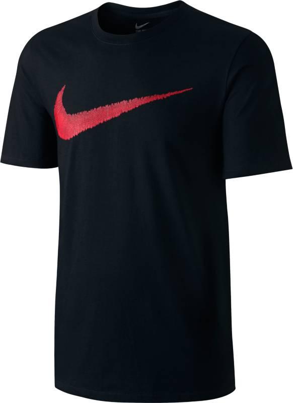 Футболка мужская Nike Swoosh T-Shirt, цвет: черный. 707456-010. Размер XL (52/54)707456-010Мужская футболка Nike Nike Swoosh T-Shirt выполнена из натурального хлопка. Ткань обеспечивает вентиляцию и комфорт. Модель с круглым вырезом горловины и короткими рукавами оформлена логотипом.