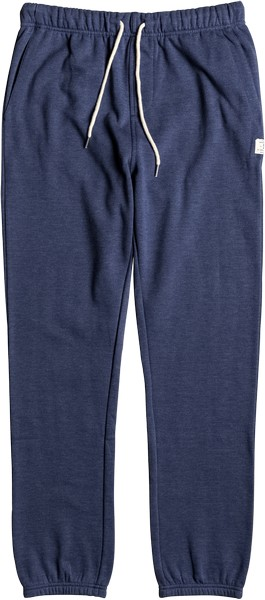 Брюки спортивные мужские DC Shoes, цвет: синий. EDYFB03012-BSA0. Размер XXL (54)EDYFB03012-BSA0Мужские спортивные брюки DC Shoes изготовлены из хлопка с добавлением полиэстера, с обратной стороны - мягкий начес. На поясе имеют удобную эластичную резинку. Объем талии регулируется шнурком-кулиской. Низ брючин дополнен эластичными манжетами. Спереди предусмотрены два прорезных кармана. Сзади находится один накладной карман на пуговице.